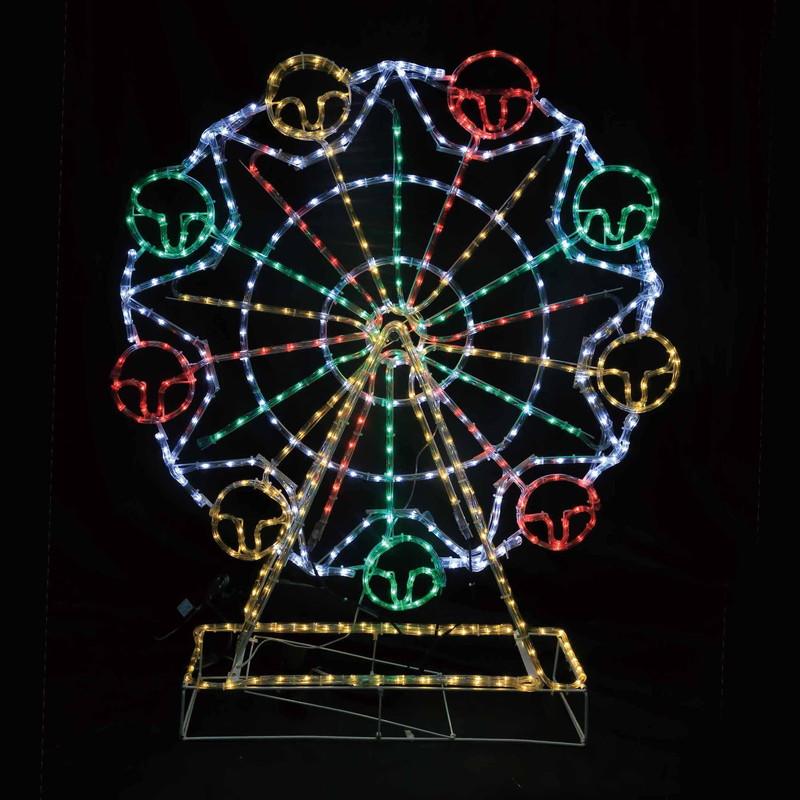 イルミネーション 送料無料 置きタイプ LEDガーデンモチーフライト 観覧車 チューブライト クリスマスイルミネーションモチーフ