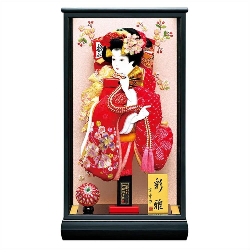 新彩雅 15号ケース 赤刺繍詩音羽子板セット