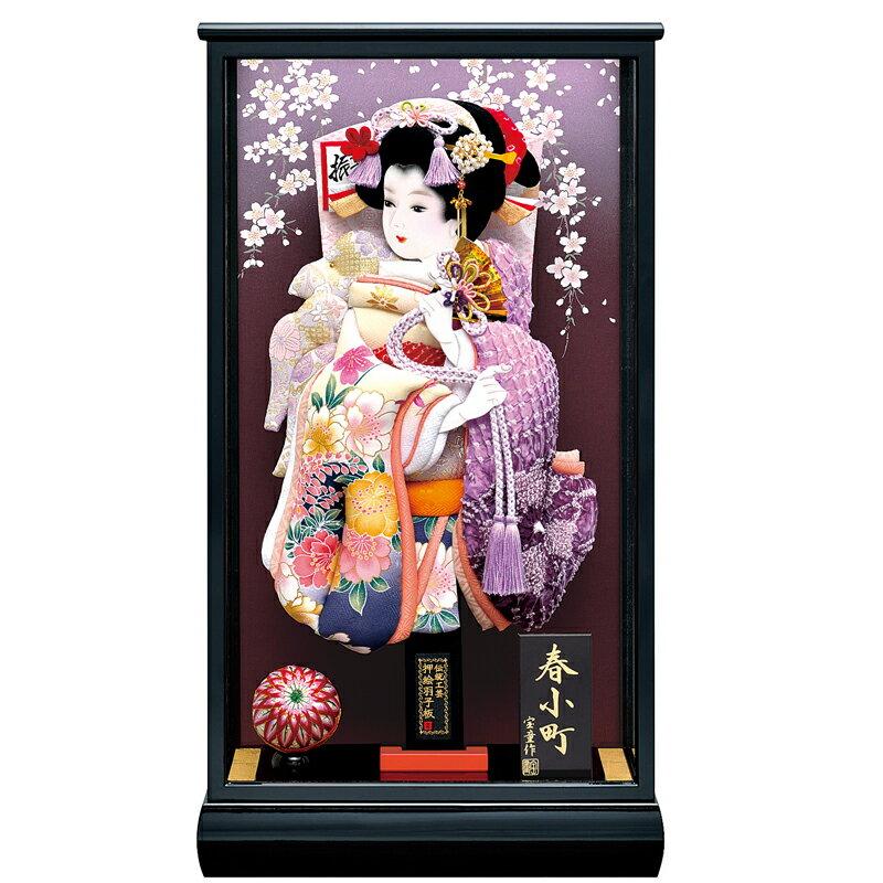 新春小町 13号ケース 友禅詩音(紫)羽子板セット