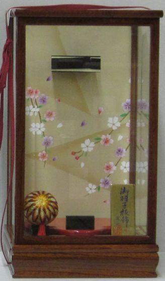 羽子板ケースケヤキ塗り和泉10号