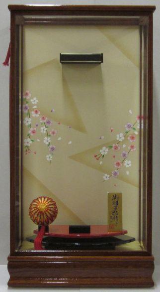 羽子板ケースケヤキ塗り和泉16号