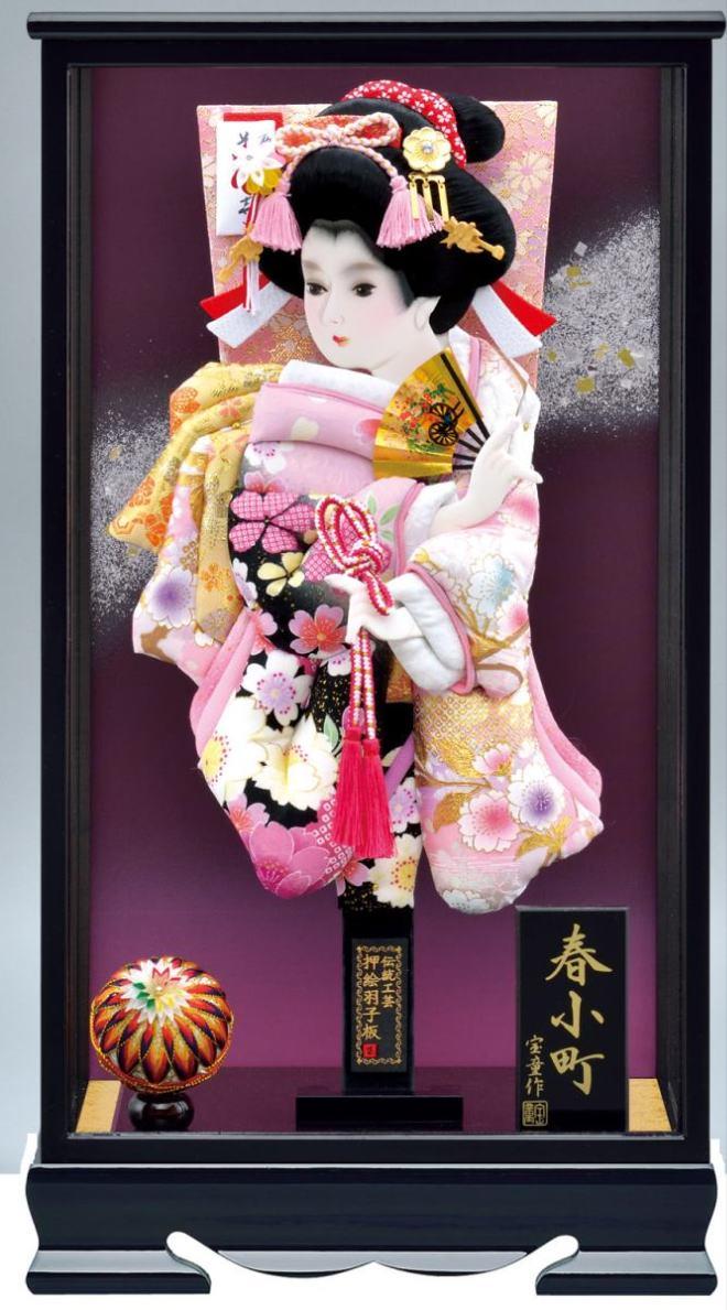 春小町 16号ケース 紫姫振袖羽子板セット