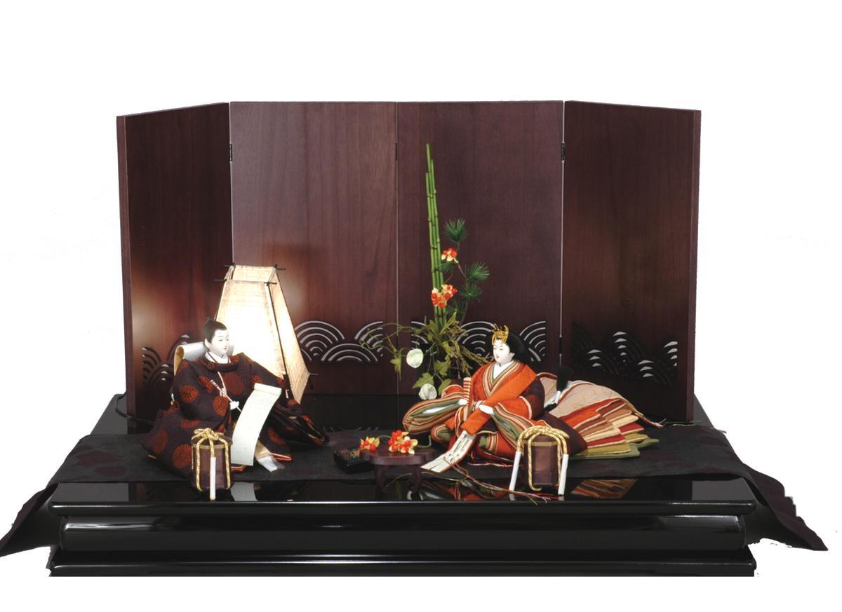 アート&デザイン後藤由香子作 JAZZ 創作雛人形平飾り 【雛人形親王飾り】