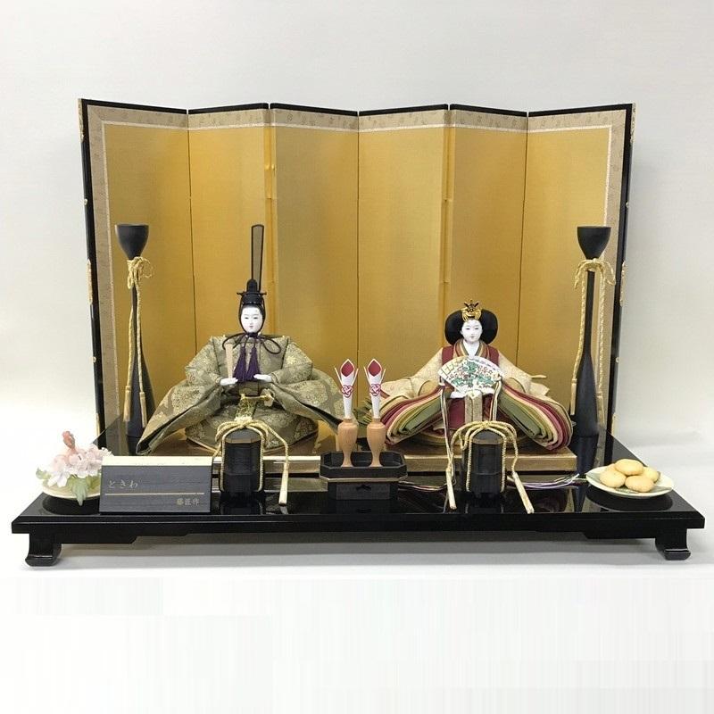 アート&デザイン後藤由香子作 ときわ 創作雛人形平飾り 【雛人形親王飾り】