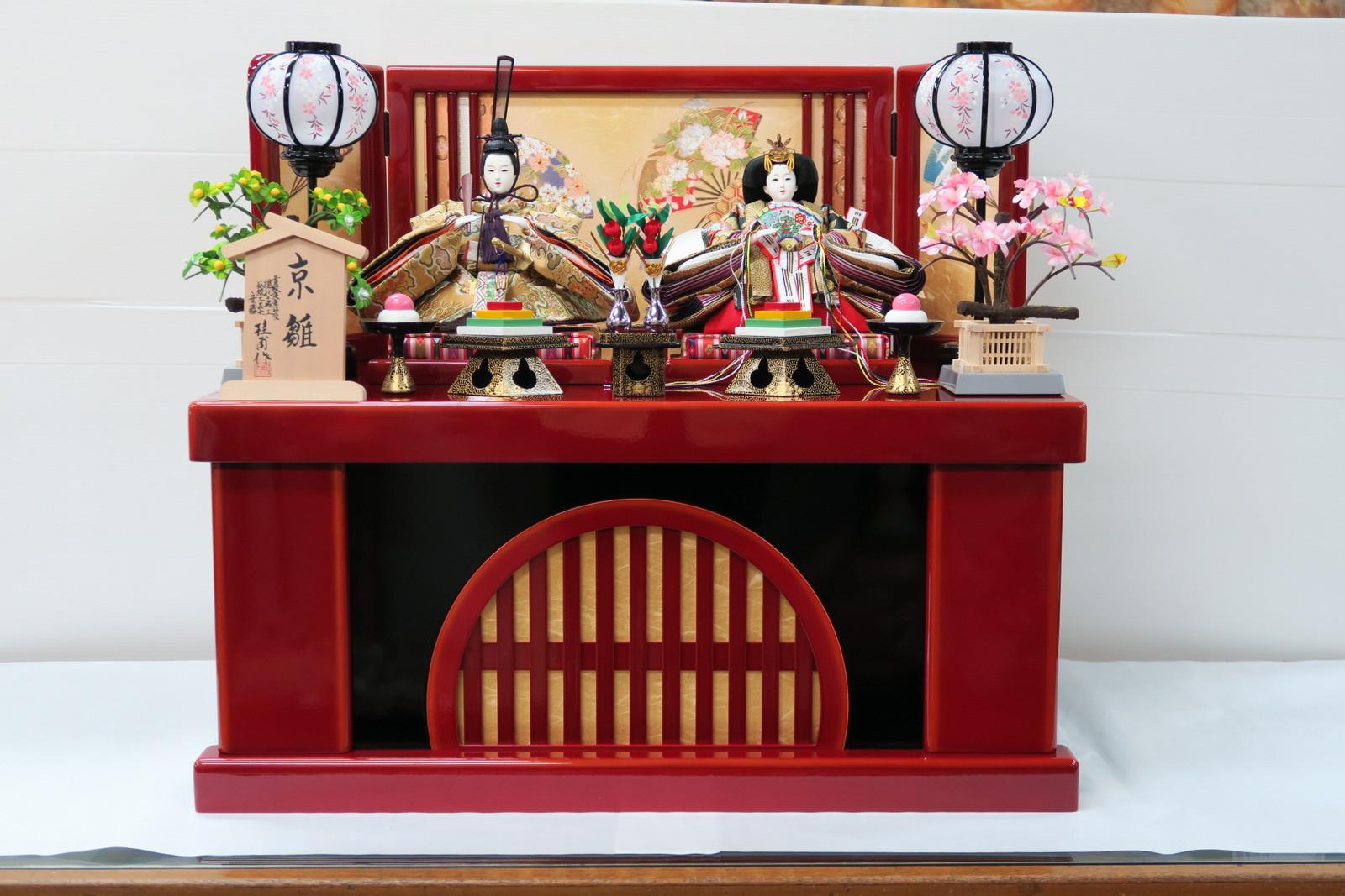 安藤桂甫作 京雛十一番雅印上親王 (収納平飾り)