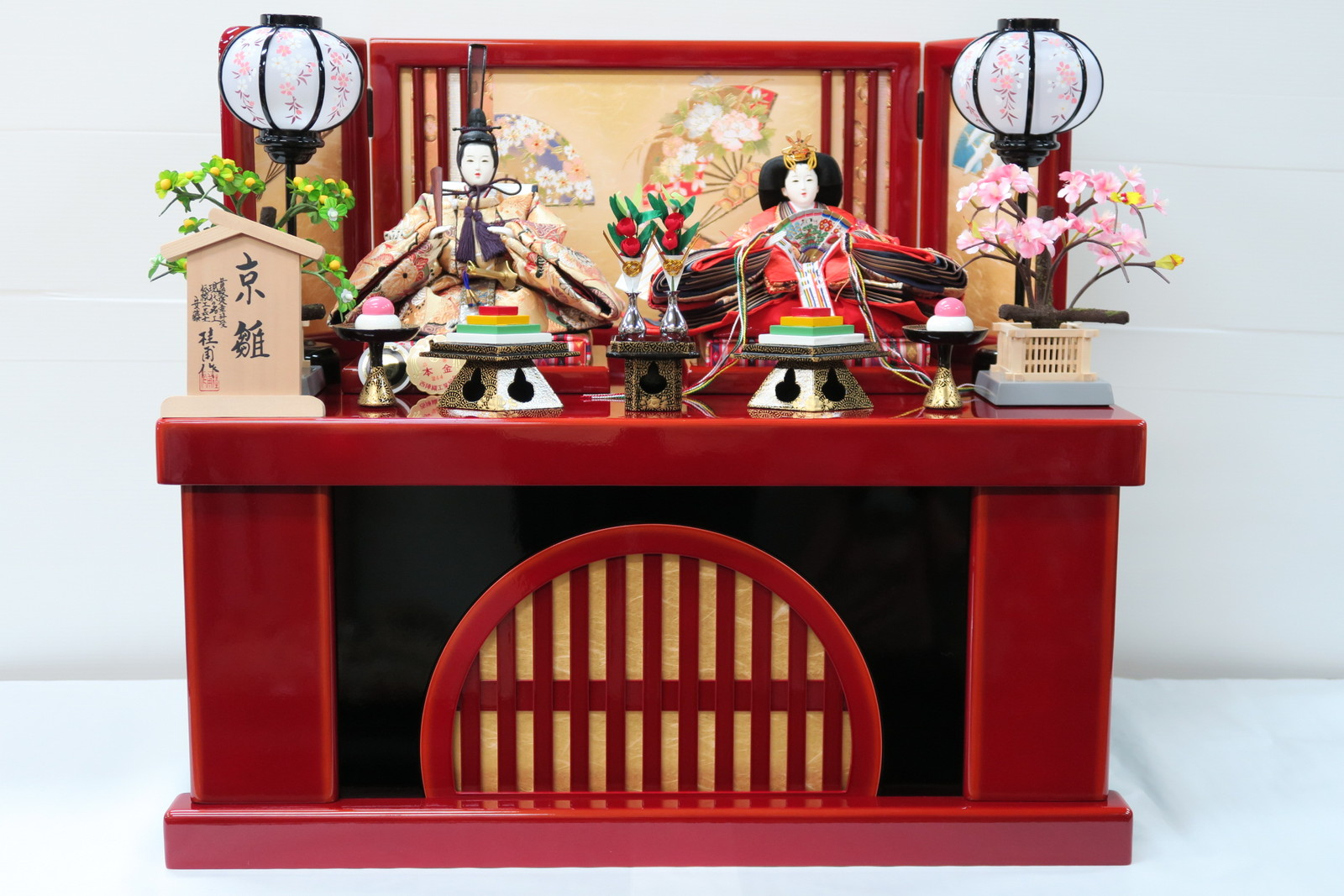 安藤桂甫作 京雛十一番本金金襴親王 (収納平飾り)
