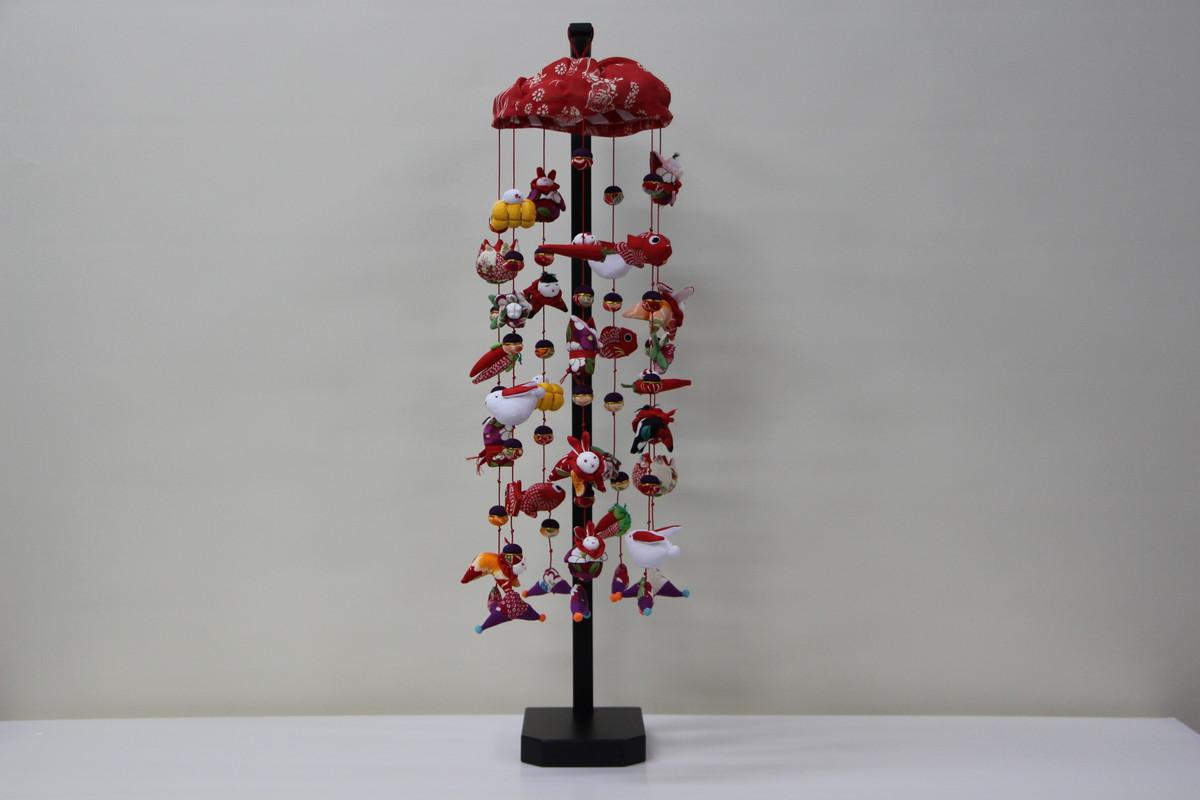 ほのか7連 吊るし飾りセット 高さ70cm (三月雛人形)【桃の節句】(卓上大)