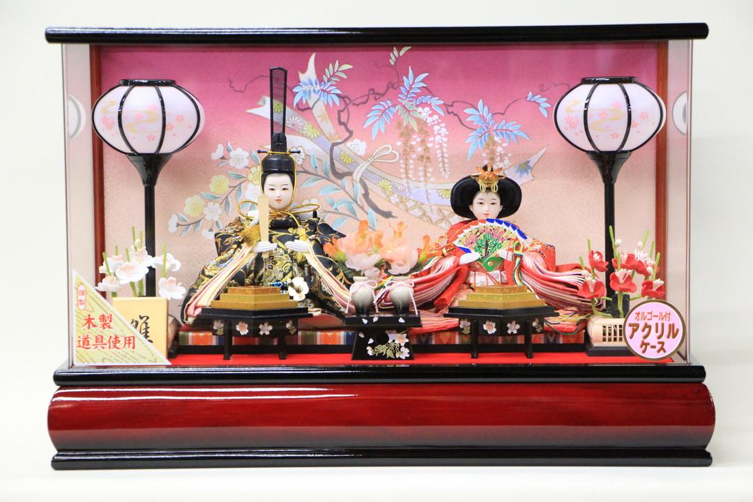 雛人形 コンパクト おしゃれ ケース飾り アクリルケース 小芥子サイズ RB7-3