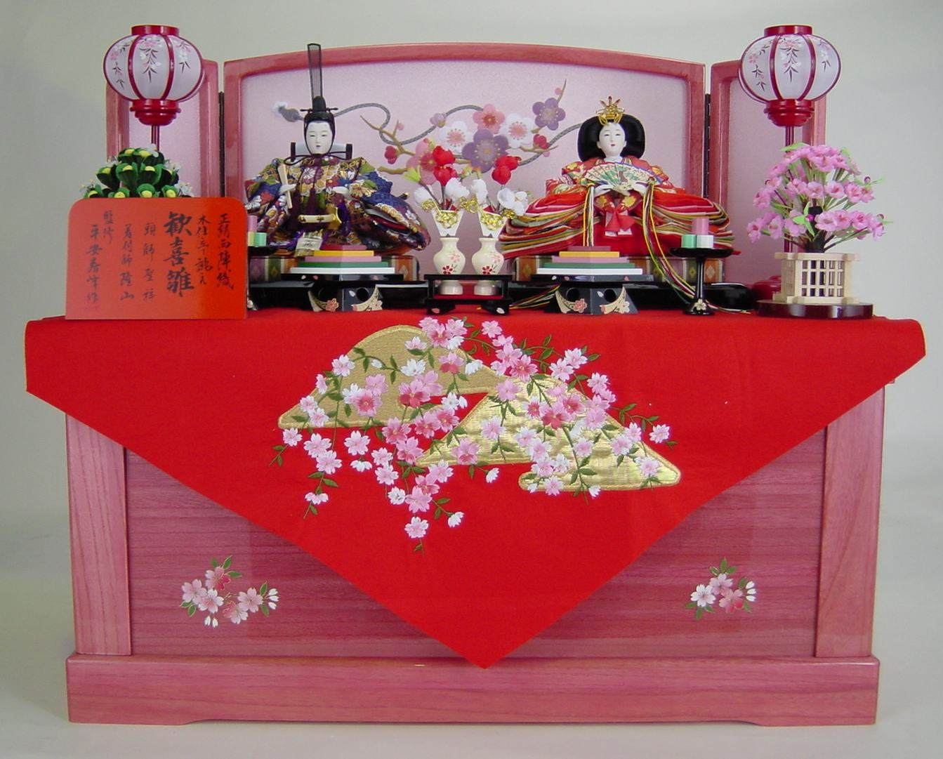 70歓喜雛親王 (塗り桐収納式飾り) 【お雛様】【収納飾り】 【ひな祭り】【smtb-k】【w3】