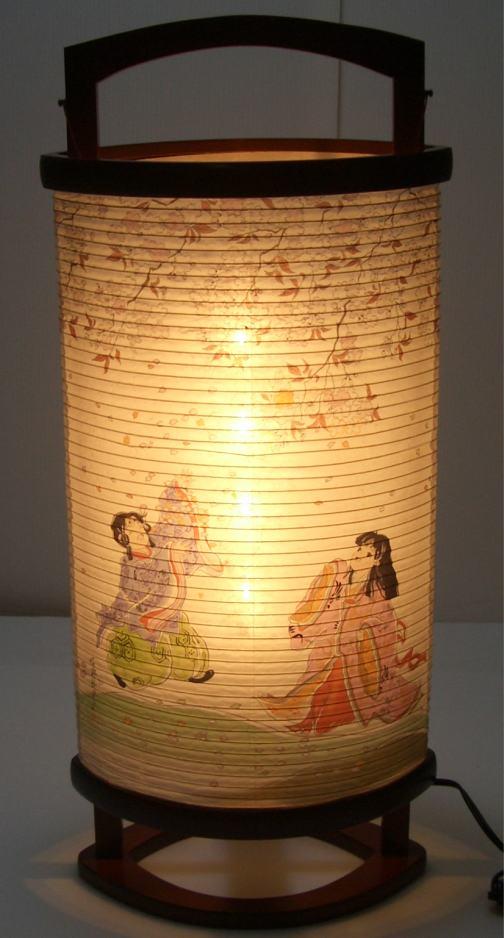 有楽 桜と童子 雛飾り付属行灯