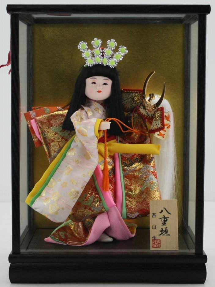 5号舞踊人形八重垣姫木製枠ガラスケース飾り 【雛祭り】 【ひな人形】