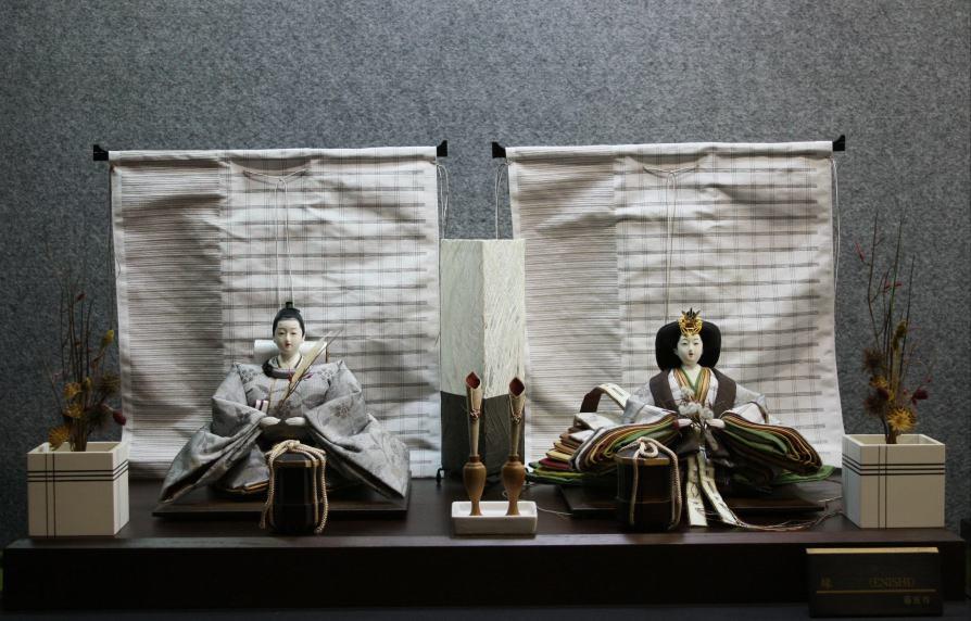 アート&デザイン後藤由香子作 エニシ 創作雛人形平飾り 【雛人形親王飾り】