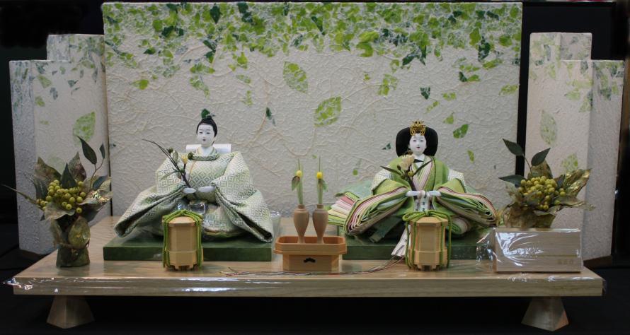 アート&デザイン後藤由香子作 こもれび 創作雛人形平飾り 【雛人形親王飾り】