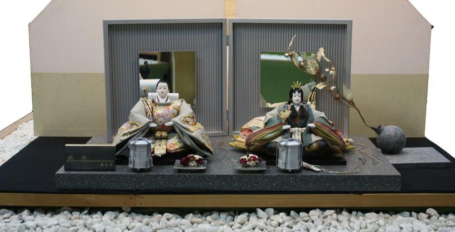 アート&デザイン後藤由香子作 波のシンフォニー銀河 創作雛人形平飾り 【雛人形親王飾り】