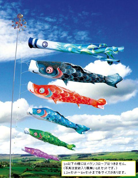 薫風の舞い鯉 風舞い 8m 6点セット