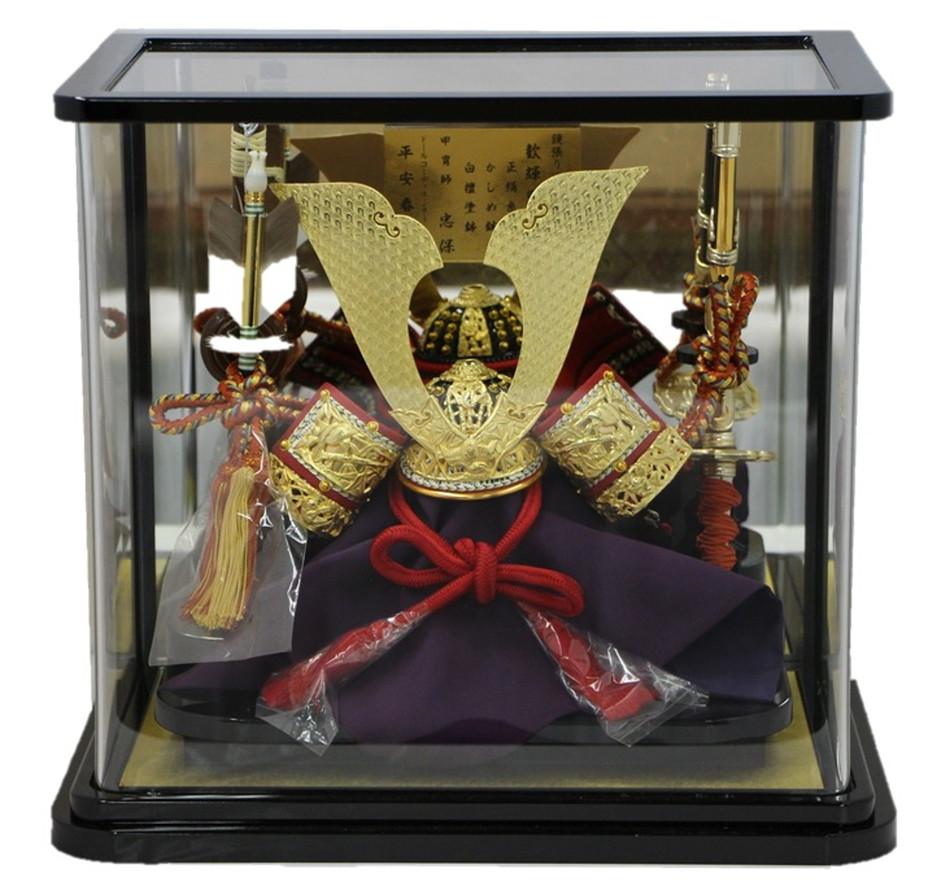 8号 竹雀兜パノラマケース飾り 春日大社国宝模写 忠保作 【五月人形】