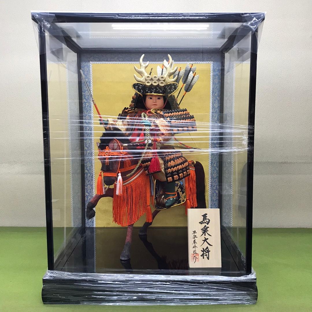 五月人形 真田幸村公馬乗り大将ケース飾り