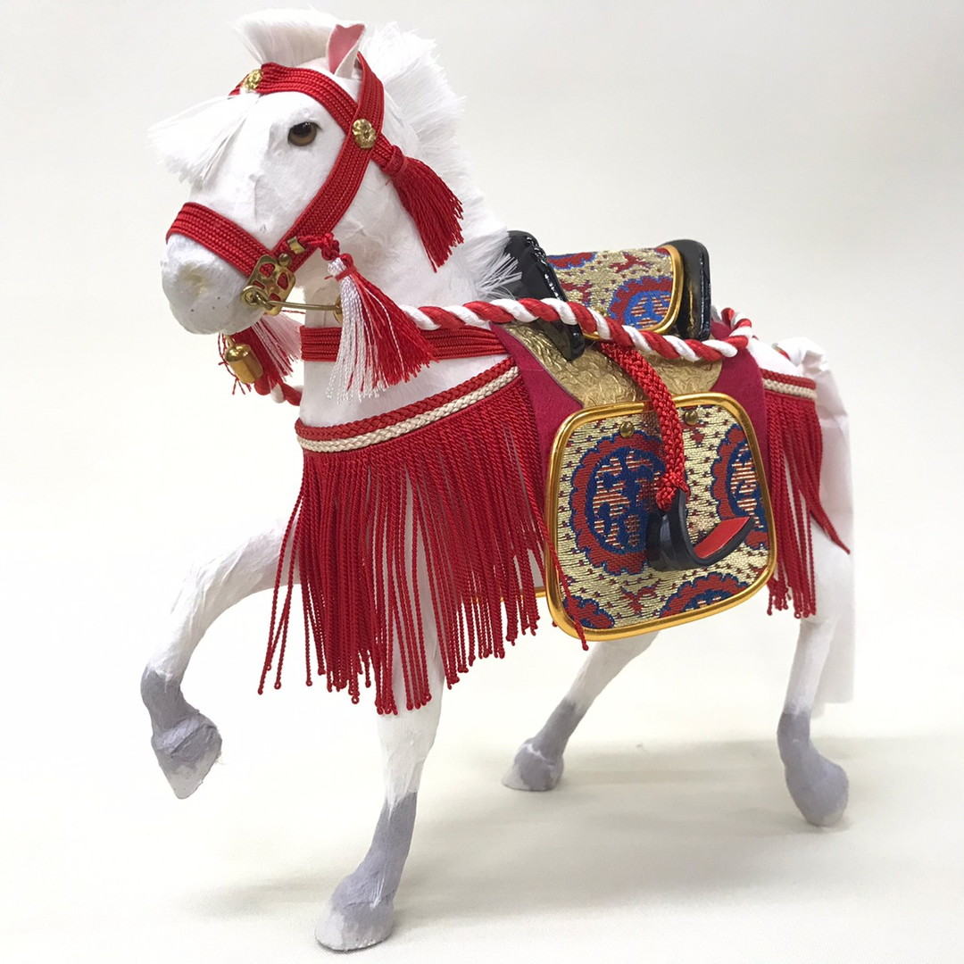 五月人形 6号 奉書飾り馬(箱入り)