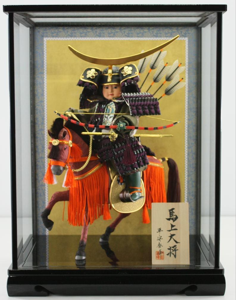 伊達政宗公馬乗り大将ケース 脇飾りケース馬乗り武者人形【五月人形】