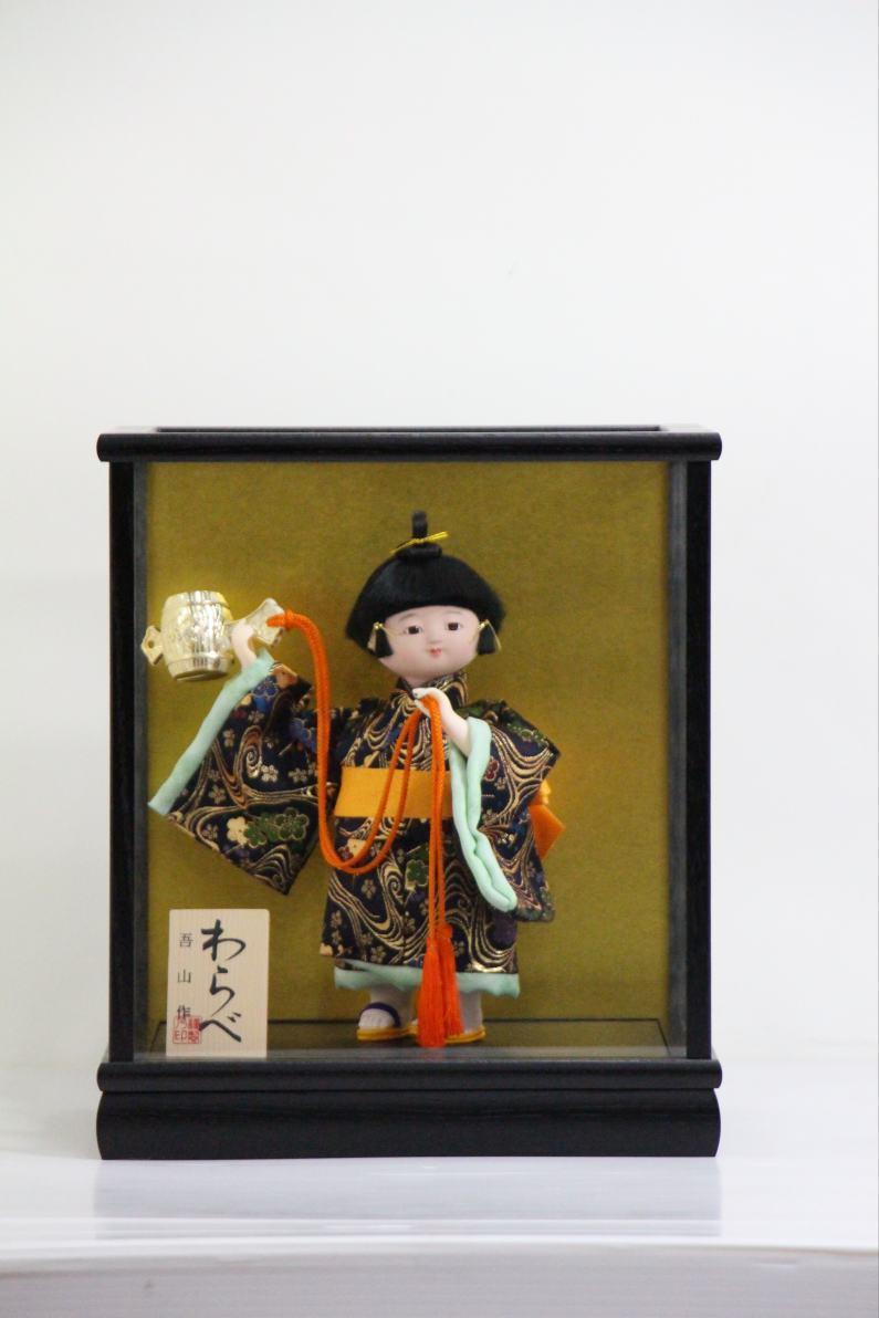 【日本のお土産】 5号 わらべ人形 こずち 木製ケース