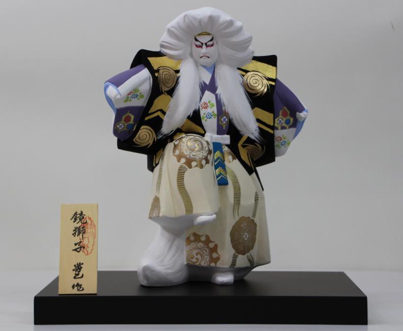 鏡獅子【博多人形】