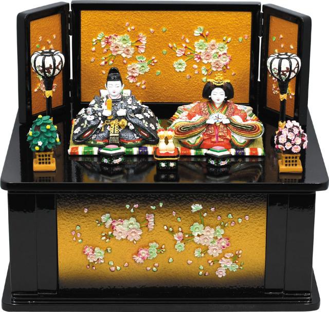 3325円山雛木製収納飾り桜(黒)