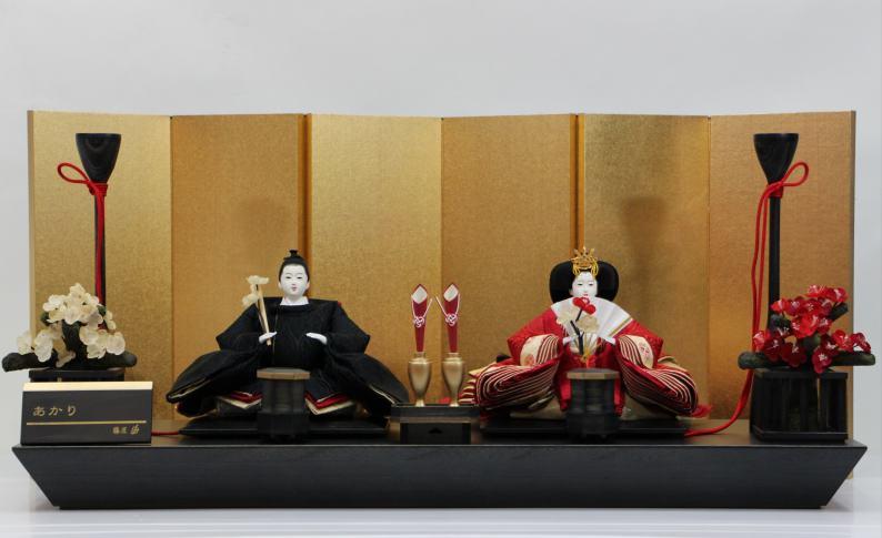 後藤由香子作 あかり 創作雛人形平飾り 【雛人形親王飾り】
