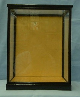 黒桑7ガラスケース(黒塗り木目前戸)
