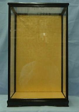 黒桑9ガラスケース(黒塗り木目前戸)