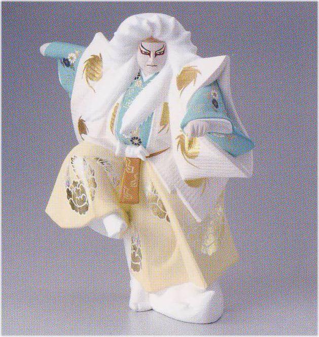 鏡獅子(大)【博多人形】