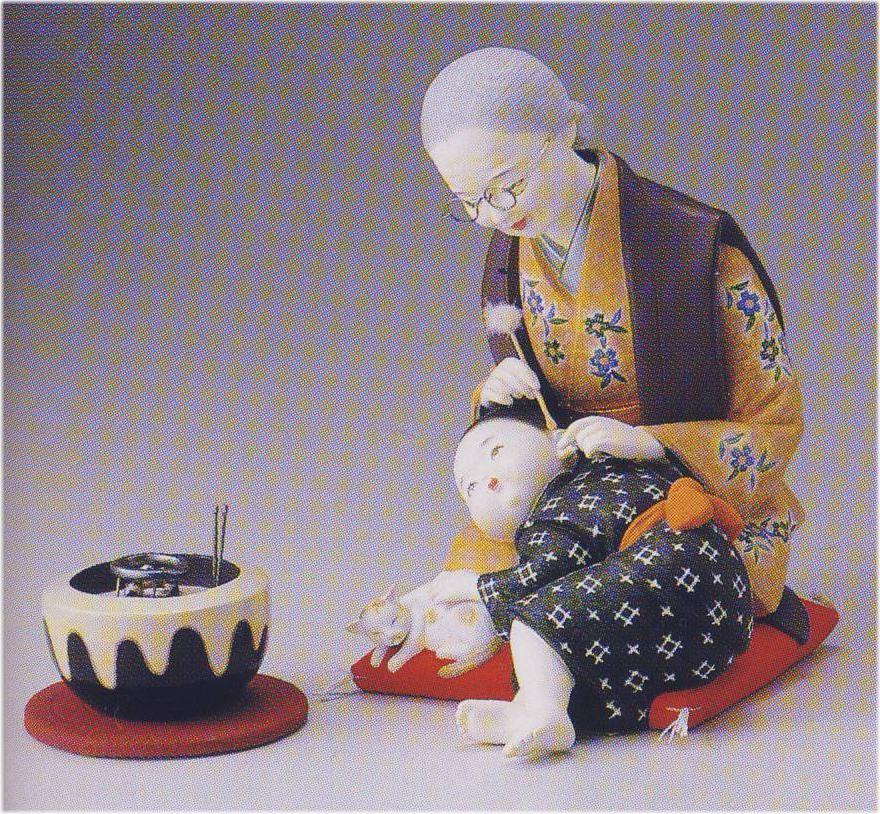 """おばあちゃんの思い出【博多人形】, 美美波""""viviva-beauty&accessory:03afb975 --- krianta.ru"""