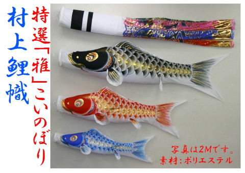 2.0m『雅』翔龍鯉のぼり万能型スタンドセット