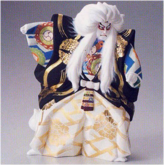 親鏡獅子(新)【博多人形】
