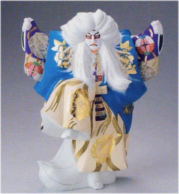 鏡獅子(2号)【博多人形】