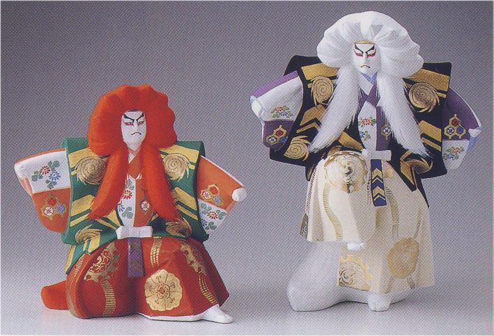 連獅子【博多人形】