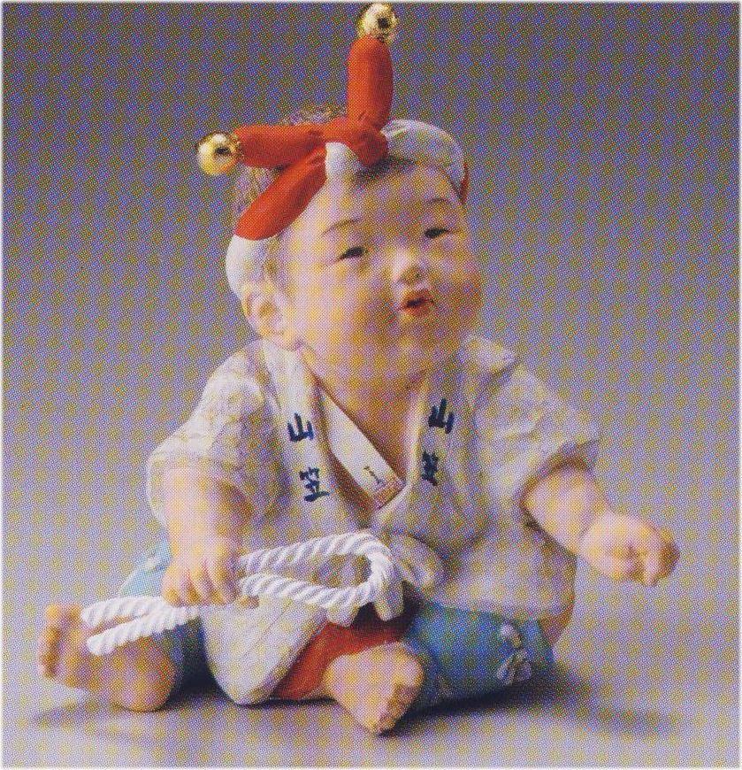 童山笠【博多人形】