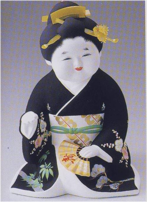 お福さん(特大)【博多人形】