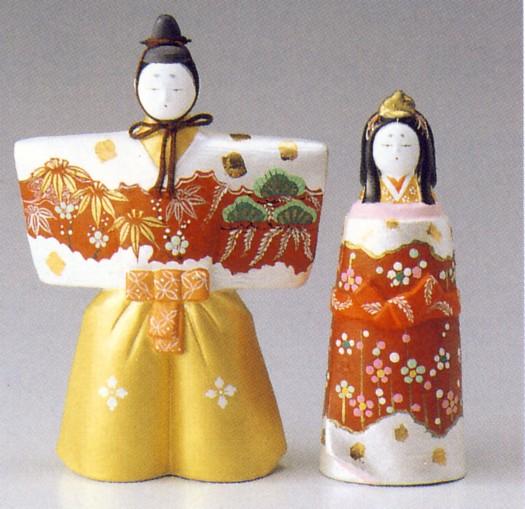 立雛(白)【博多人形】