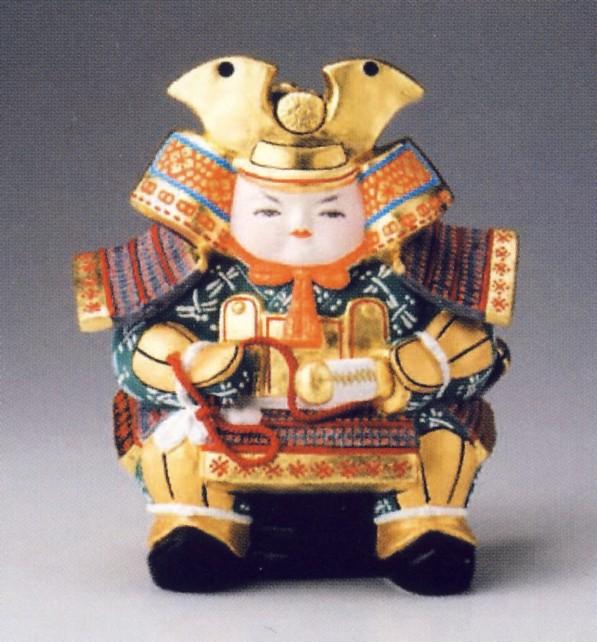 童大将(青)【博多人形】