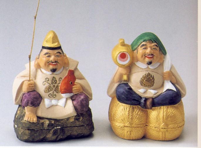 恵比須大黒(組)【博多人形】