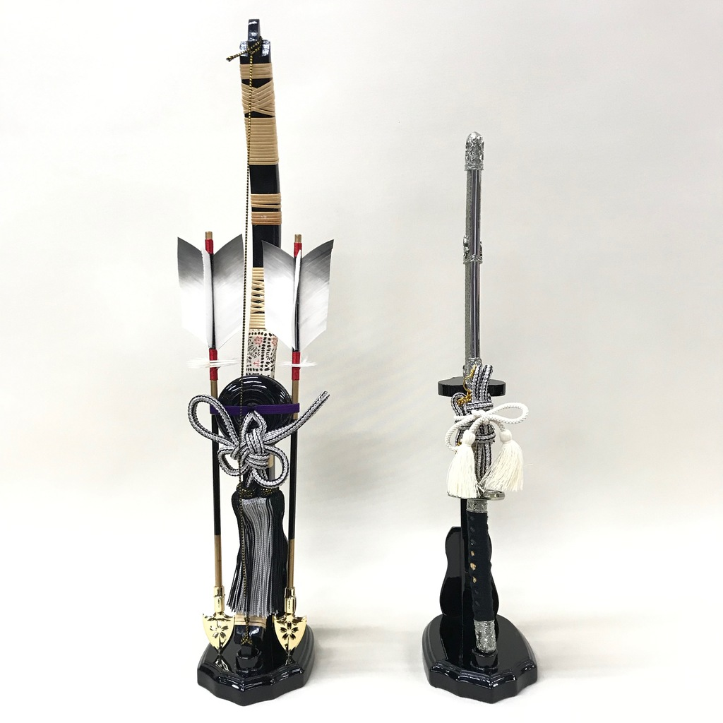 17号 銀河弓達 木製台 五月人形付属品 訳あり特価
