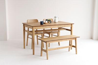 新色 コンパクトな4人がけサイズのダイニングテーブル4点セット 奉呈 ヴィンテージ調ダイニングテーブル4セット