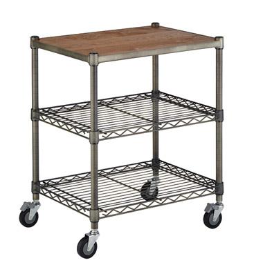 HomeERECTA Vintage (ホームエレクター ヴィンテージ) Working Cart Woodセット 間口600×奥行450mm×高さ724mm