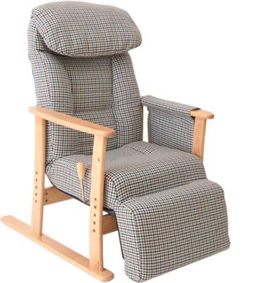 【梢】フットレスト付高座椅子 No.83-818