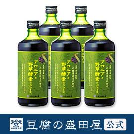 【豆腐の盛田屋 公式】アロニアと野草酵素のジュース 5本セット