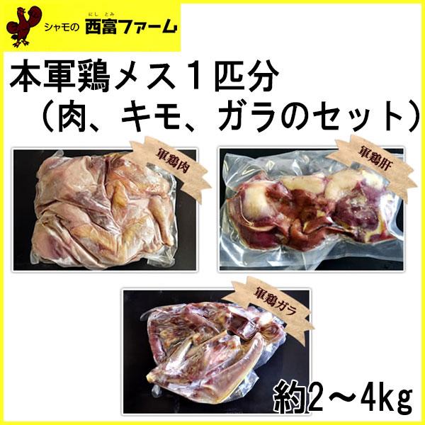 西富ファーム 本軍鶏メス1匹分 約2~4kg/冷凍便/しゃも/坂本龍馬