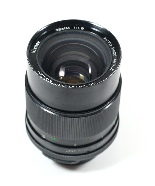 日本製レンズ ヴィヴィター オート・ワイドアングル 35/1.9 M42用Vivitar 35MM 1:1.9 AUTO WIDE-ANGLE for M42
