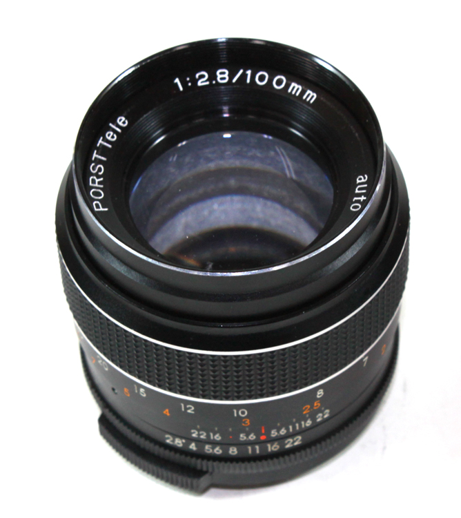 Japan-made lens porst and tele MC Auto 2.8 / 100 for M42 PORST TELE MC AUTO 1:2.8/100mm for M42