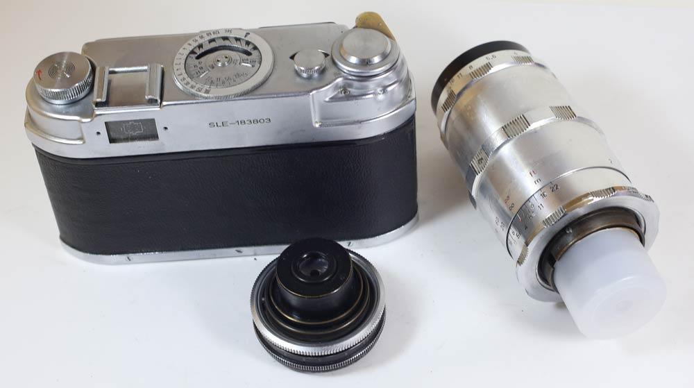 Germany-made camera leidolf road Matt SLE + Schacht lens 2 Leidolf Lordomat SLE+2 Schacht lenses