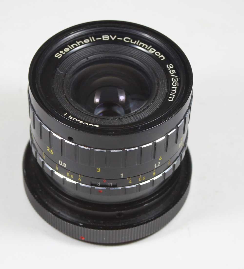ドイツ製レンズ シュタインハイル クルミゴン 3.5/35 キャノンFD用Steinheil-BV-Culmigon 3,5/35mm for M42